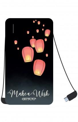 Power Bank 5000mAh iOs+Android - Make a wish