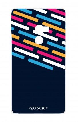Cover Xiaomi Mi Mix2 - Righe su fondo Blu