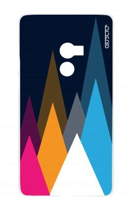 Cover Xiaomi Mi Mix2 - Cime su fondo Blu