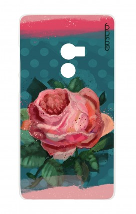 Cover Xiaomi Mi Mix2 - Blue polka dot and rose