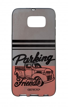 Samsung S6 WHT Two-Component Cover - Parking Friends
