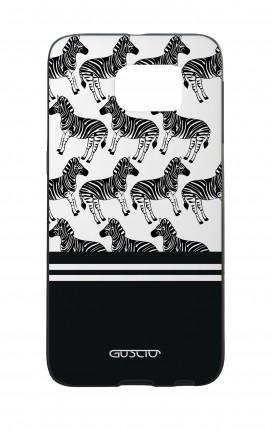 Samsung S6Edge WHT Two-Component Cover - Zebra Fantasy