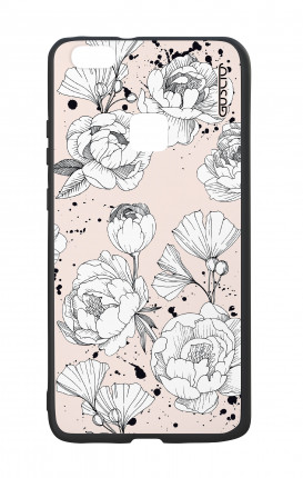 Huawei P10Lite White Two-Component Cover - Peonias