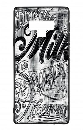 Samsung Note 9 WHT Two-Component Cover - Black and white graffiti