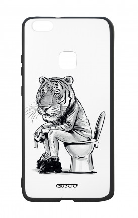 Huawei P10Lite White Two-Component Cover - Tiger on WC
