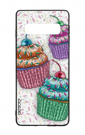 Samsung S10Plus WHT Two-Component Cover - Cupcakes