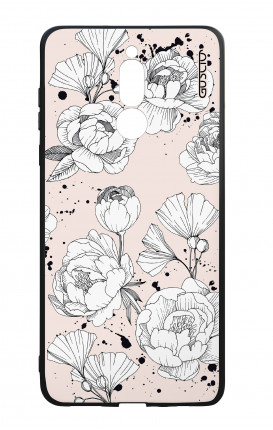 Huawei Mate10Lite WHT Two-Component Cover - Peonias