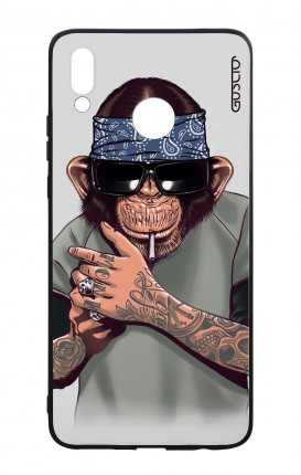 Huawei P Smart Plus WHT Two-Component Cover - Chimp with bandana