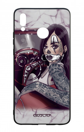 Cover Bicomponente Huawei P Smart PLUS - Pin Up Chicana in auto