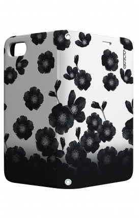 Cover STAND Apple iphone 7/8 - Fiori neri sfumati