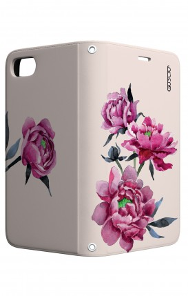 Case STAND Apple iphone 7/8 - Pink Peonias