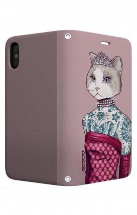 Cover STAND Apple iphone X/XS - Gattina principessa