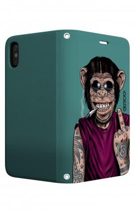 Case STAND Apple iphone X/XS - Monkey's always Happy