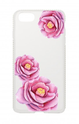 Cover Apple iPhone 6/6s Diamonds - Peonie trasparenti