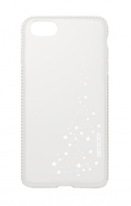 Cover Apple iPhone 7/8 Diamonds - Cascata di stelle bianco