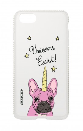 Cover Apple iPhone 7/8 Diamonds - Unicorns Exist bianco