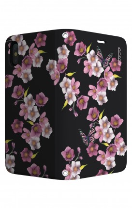Cover STAND Apple iphone X/XS - Fiori di ciliegio