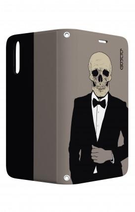 Case STAND Huawei P20 - Tuxedo Skull