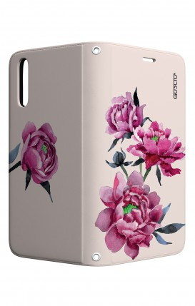 Cover STAND Huawei P20 - Peonie rosa
