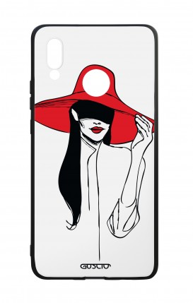 Huawei P20Lite WHT Two-Component Cover - Red Hat