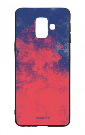 Samsung A6 Plus WHT Two-Component Cover - Mineral Red Blue