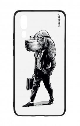 Cover Bicomponente Huawei P20 - Business Dog