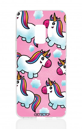 Cover Samsung Galaxy S9 Plus - Unicorns in the clouds