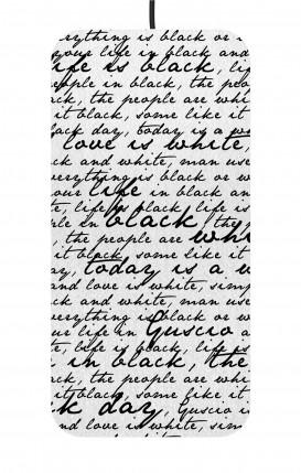Caricatore Wireless Ultraslim - Scritte in bianco e nero
