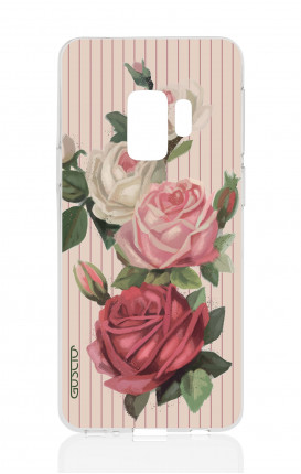 Cover Samsung Galaxy S9 Plus - Roses and stripes