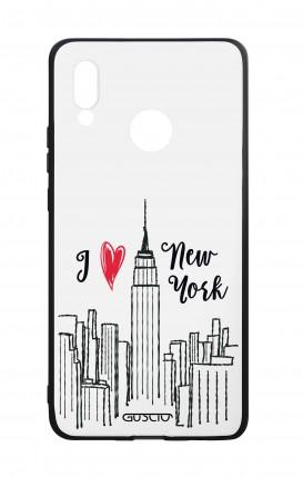 Cover Bicomponente Huawei P20Lite - I love NY