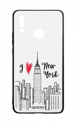 Huawei P20Lite WHT Two-Component Cover - I love NY