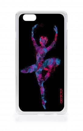 Cover Apple iPhone 7/8 Plus TPU - Ballerina fondo nero