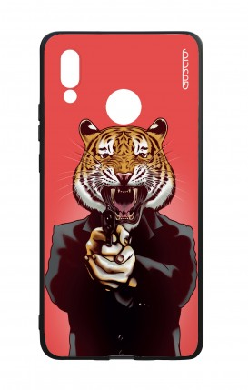 Huawei P20Lite WHT Two-Component Cover - Tiger with Gun