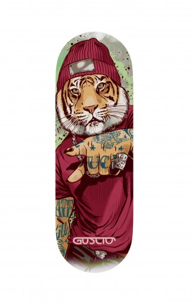 Phone grip - Tigre Hip Hop bianco