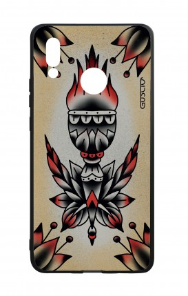 Huawei P20Lite WHT Two-Component Cover - Old School Tattoo Flame