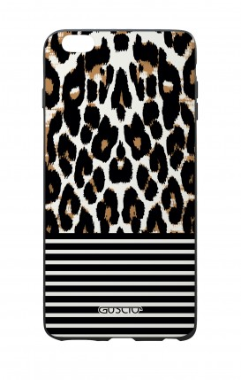 Apple iPhone 7/8 Plus White Two-Component Cover - Animalier & Stripes