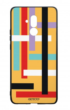 Huawei Mate20Lite WHT Two-Component Cover - Yellow Lines Abstract