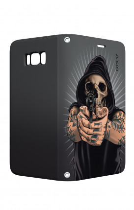 Huawei P30Lite WHT Two-Component Cover - Black Shade Flowers