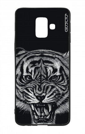 Samsung J6 2018 WHT Two-Component Cover - Black Tiger