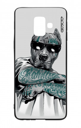 Samsung J6 2018 WHT Two-Component Cover - Tattooed Pitbull