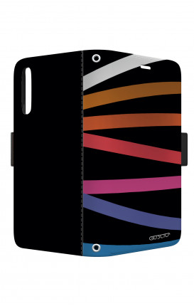 Cover STAND VStyle EARS Samsung A10 - Astratto nastri