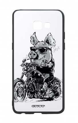 Samsung A5 2017 White Two-Component Cover - Biker Pig