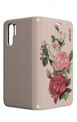 Cover STAND Huawei P30 PRO - Rose e righe