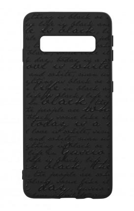 Rubber case Samsung S10 Plus - B&W Letter