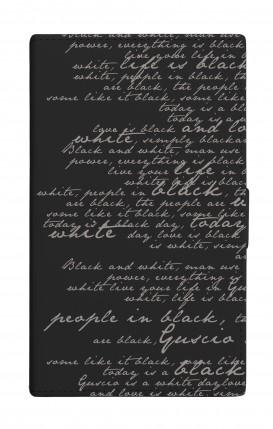 """UNV BOOK 4.7-5.1"""" PU LTH BLACK TG M (Tall) - B&W Letter"""