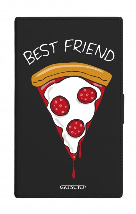 """Cover Universal Casebook MEDIUM for 4.7""""-5.1'' display - Best Friend Pizza"""