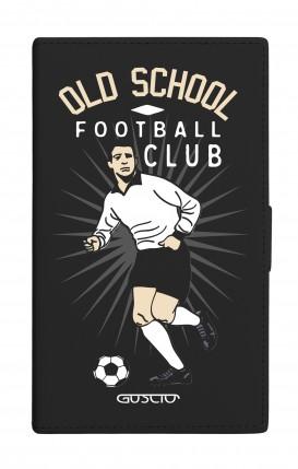 "Cover Universal Casebook MEDIUM for 4.7""-5.1'' display - Old School Football nero"