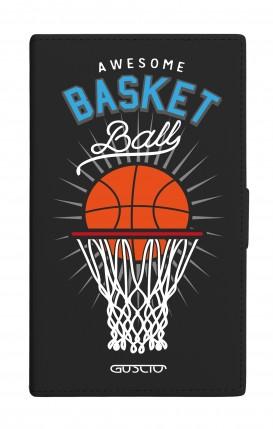 "Cover Universal Casebook MEDIUM for 4.7""-5.1'' display - Basket Ball nero"