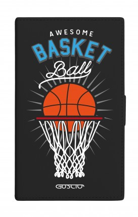 "UNV BOOK 4.7-5.1"" PU LTH BLACK TG M (Tall) - BLK Basket Ball"