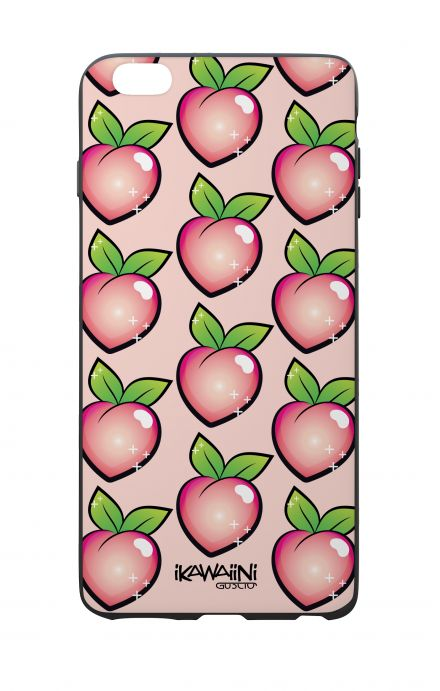 Apple iPhone 6 WHT Two-Component Cover - Peaches Pattern Kawaii